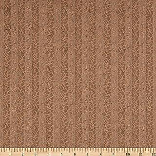 Windham Quilt Fabrics Reeds Legacy Leaf Stipe Almond