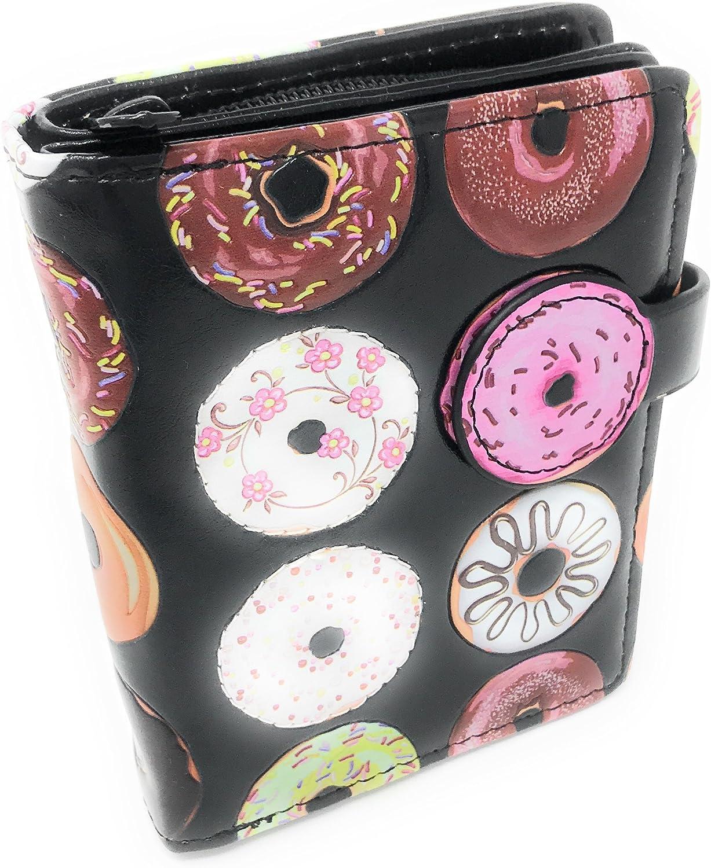Donut Wallet for Women Small Black