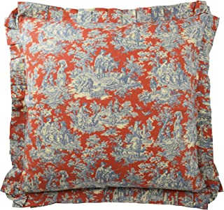 WAVERLY Throw Pillow Covers - Sanctuary Rose Decorative Pillow Cases Euro Sham for Sofa Couch Bedroom Living Room, 26