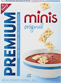 Premium Minis Saltine Crackers, Original, 11 Ounce (Pack of 6)