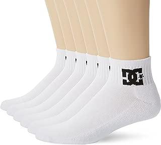 DC Shoes 6-Pack Men's Quarter Crew Socks