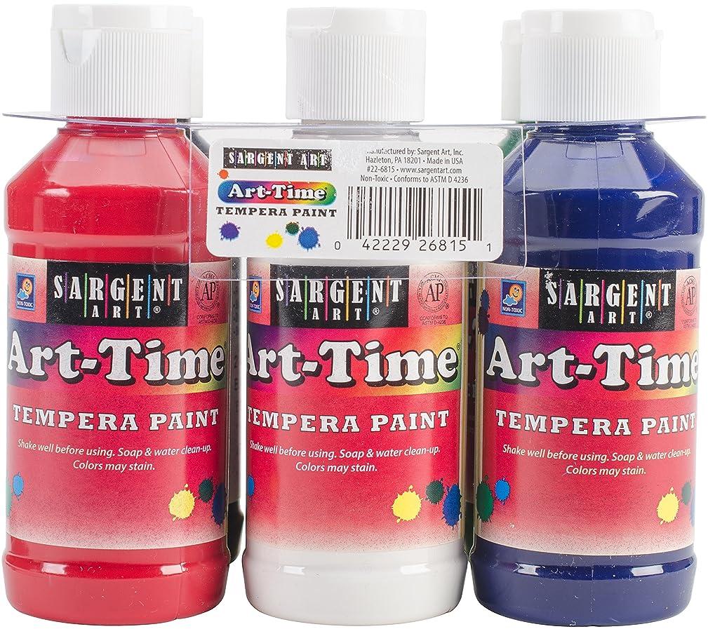 Sargent Art 22-6815 6 Pack 4oz Art-Time Tempera Primary Paint Set