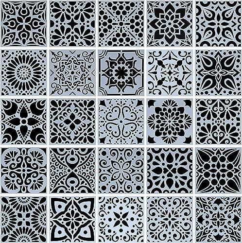 Circle Line Plantilla Piedra Pintura Planificador Plantilla Scrapbook Cardmaking Journal