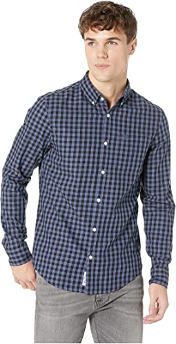 Long Sleeve Gingham Nep Woven Twill - Non-Stretch Shirt