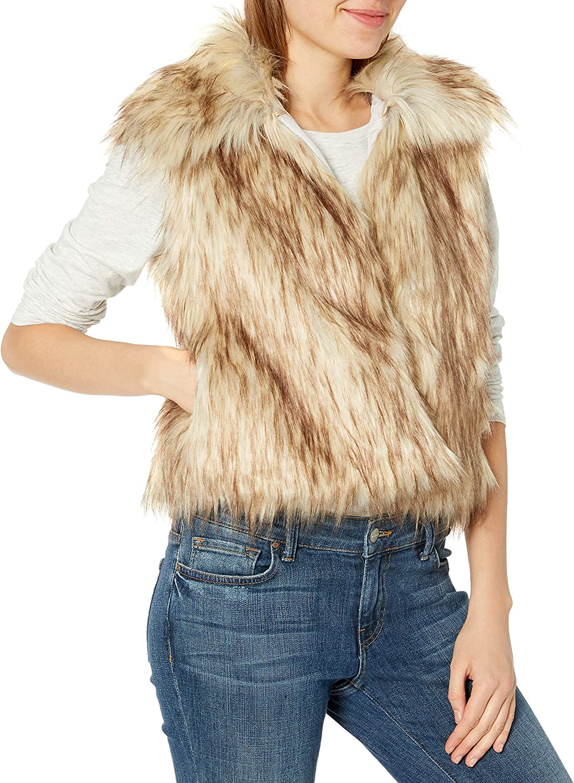 cupcakes and cashmere Women's Jackie Faux Fur Short Vest