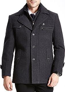 [ Normcore sense ]ノームコア センス ウール トレンチコート メンズ ジャケット チェスターコート ツイード スタンドカラー p コート 2WAY MA1_17