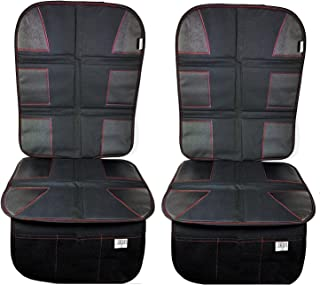 Luliey Car Seat Protector (2-Pack) CarSeat Cover Pad for Child, Baby Car Seats & Dog Mats - Protects Automotive Vehicle Cloth Upholstery or Leather Seats from Dust & Dirty Shoes