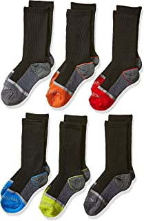 Boys' 6-Pair Half Cushion Crew Socks
