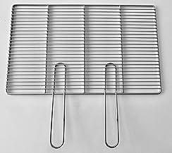 54x34cm,60x40cm,67x40cm Grillrost aus Edelstahl MIT Handgriffen Edelstahlgrillrost rechteckig Rost für Grillkamin MIT Handgriffe