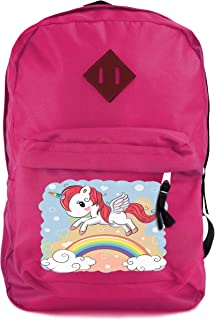 Unicorn Backpack for Girls Classic Backpack Casual Everyday Student School Bookbag Travel Rucksack Light Weight Canvas Backpack Unisex Outdoor Sport Shoulder Bag Fashion Hiking Daypack (Unicorn 2)
