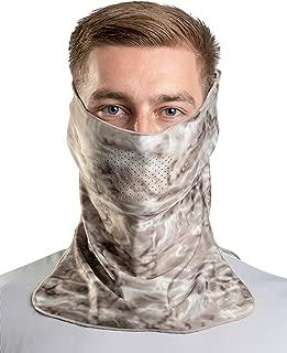 Aqua Design Sun Wind Mask for Men Size Adjustable XS-2XL: UPF 50+ Half Mask Tube: Pacific Sand