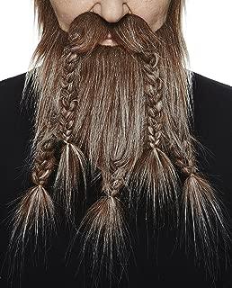 Self Adhesive, Novelty, Viking Dwarf Fake Beard, False Facial Hair, Costume Accessory for Adults
