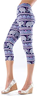 | Extra Soft Capri Leggings with Design | Variety of Prints | One Size