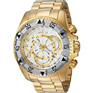 Men's Excursion Quartz Watch with Stainless-Steel Strap, Gold, 26 (Model: 24264)