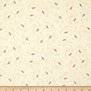 Henry Glass & Co. Henry Glass 108'' Spiced Quilt Back Stylized Flower Cream Fabric by The Yard
