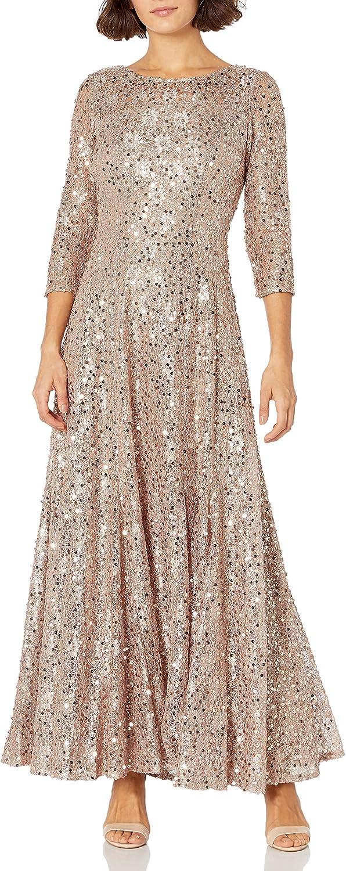 Tahari ASL Women's Petite Sequin Fit & Flare Gown