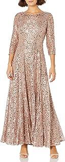 Tahari ASL Damen Sequin Fit & Flare Gown Formales Abendkleid