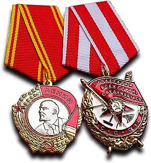 Trikoty Order of Lenin + Order of The Red Banner Set - Highest Soviet Military Medal Award for Exemplary Service Antique R...