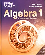 BIG IDEAS MATH Algebra 1: Common Core Teacher Edition 2015