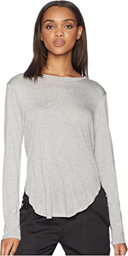 Drapey Modal Long Sleeve Curved Crew
