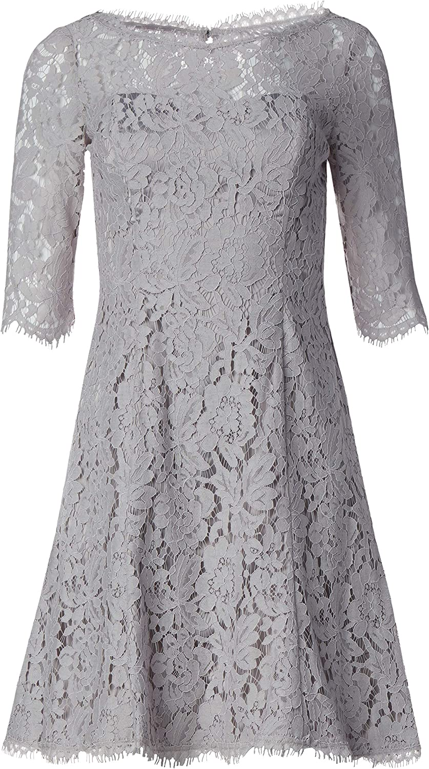 Eliza J Women's Quarter Sale special price Over item handling Length Sleeve Lace Dress and Flare Fit