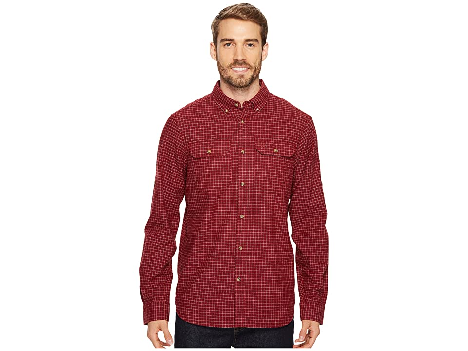 Fjallraven Forest Flannel Shirt (Deep Red) Men