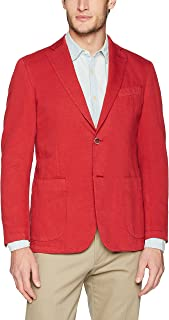 Men's Two Button Unconstructed Single Breasted Ruby Blazer