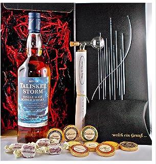 Geschenk Talisker Storm Single Malt Whisky  Glaskugelportionierer  Edelschokoladen  Whiskey Fudge
