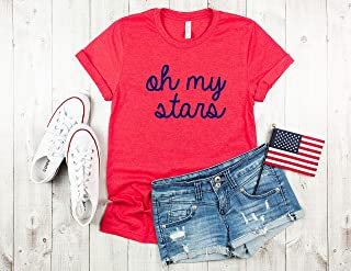 oh my stars Womens 4th of july shirt star shirt fourth of july memorial day shirt independence day tshirt women