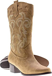 87b8debf5801 Canyon Trails Women s Classic Pointed Toe Embroidered Western Rodeo Cowboy  Boots