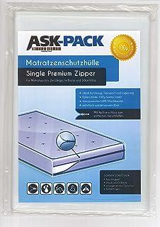 ASK Pack Housse De Protection Matelas Single Premium (3. Génération) avec fermeture éclair pour largeur 100 cm / 30 cm de ...