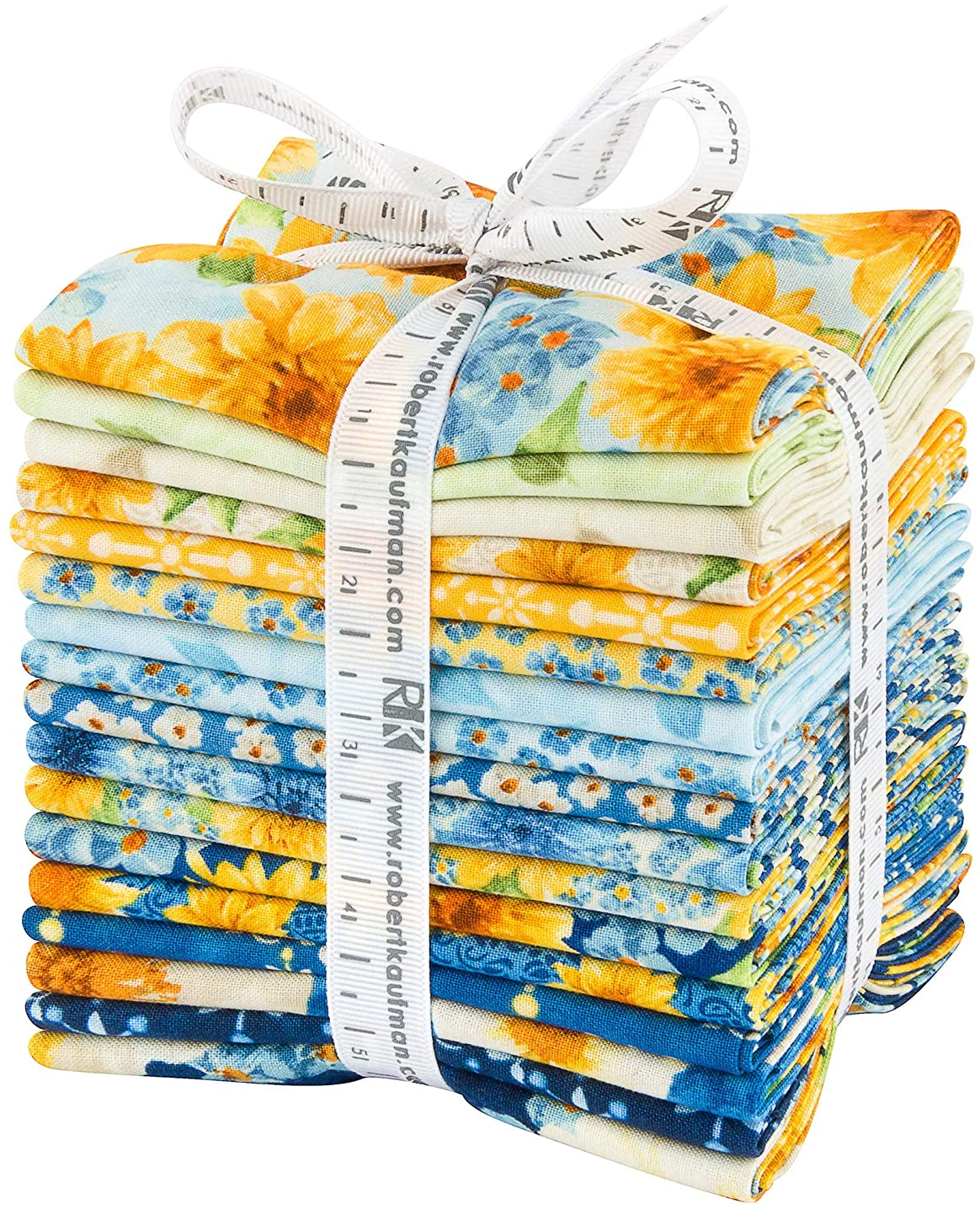 Rebecca BAER Gardenside Path Fat Quarter Bundle 17 Precut Cotton Fabric Quilting FQs Assortment Robert Kaufman FQ-1411-17