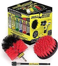 Scrub Brush - Grout, Concrete, Granite Cleaner - Drill Brush Stiff Bristle Set - Cleaning Supplies - Mold, Mildew, Algae R...