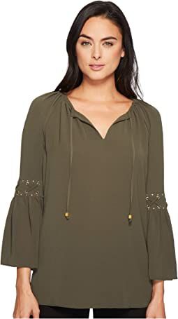 MICHAEL Michael Kors - Lace-Up Sleeve Top