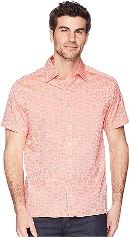 Robert Graham Cullen Squared Short Sleeve Woven Shirt