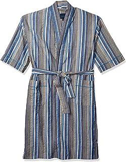 Men's Sun Soaked Seersucker Kimono Robe