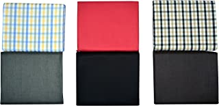 Men in Black Men's Cotton Polyester Blend Shirt and Pant Fabric, Combo of 6 (Multi-Coloured)