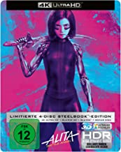 ALITA : BATTLE ANGEL 4-DISC STEELBOOK EDITION (4K ULTRA HD BLU-RAY 3D BLU-RAY BONUS DISC) GERMANY EXCLUSIVE