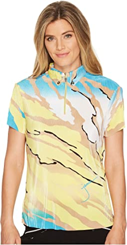 Le Tigre Crunchy Textured Short Sleeve Top