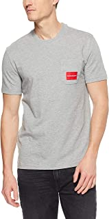 Calvin Klein Men's Short Sleeve Logo Tee with Pocket