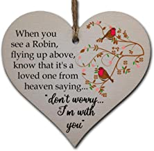 Handmade Wooden Hanging Heart Plaque Gift to Remember Lost Loved Ones