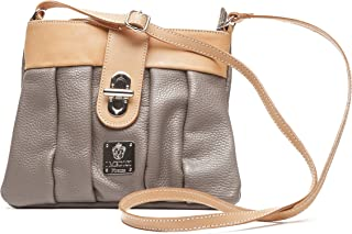 I Medici Italian Leather Messenger Bag That Are Directly Imported From Italy Taupe 307