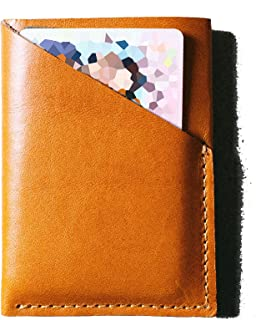 Hall St. Merchants - Slim Two Pocket Leather Minimalist Wallet
