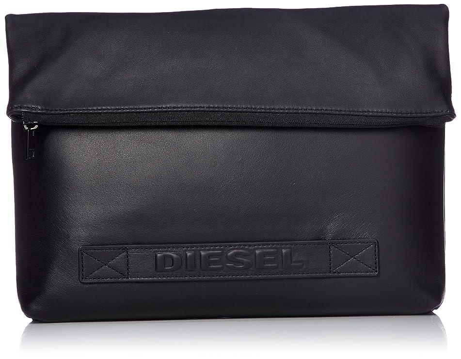 キャリアぼんやりした技術者(ディーゼル) DIESEL メンズ デニム×レザー クラッチバッグ X06340P2553