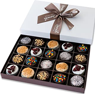 Barnett's Holiday Gift Basket – Elegant Chocolate Covered Sandwich Cookies Gift Box – Unique Gourmet Food Gifts Idea For M...