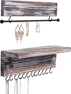 wooden jewelry rack