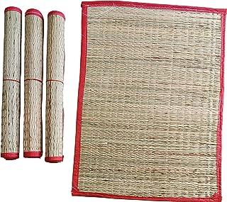 Pooja Hub Natural Handmade Reusable Grass Kusha Aasan/ Washable Mat for Puja, Yoga, Pranayam, Meditation Eco Friendly Very...