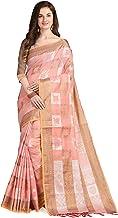 Women s Pure Resham Weave Cotton Kanchipuram Silk Saree With Blouse Piece