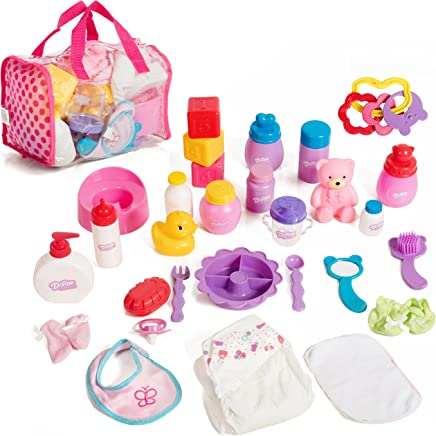 Mommy & Me Baby Doll Care Set - with 30 Accessories in Bag