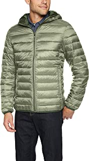 Men's Lightweight Water-Resistant Packable Hooded Puffer Jacket